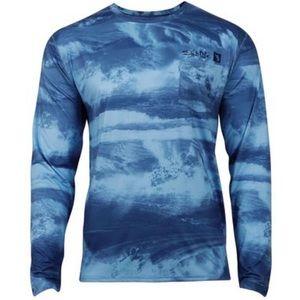 Salt Life Stormy Waters UV Fishing T-shirt Large